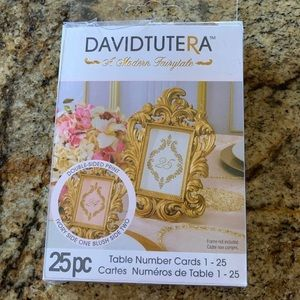 nwt david tutera wedding table markers